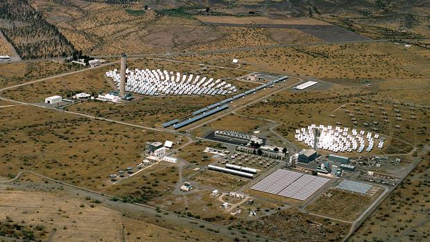 Plataforma Solar de Almería, situada en Tabernas