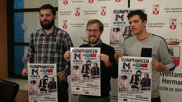 Juan Pedro Rodríguez, Francisco Toscano y Daniel Cañas en la presentación