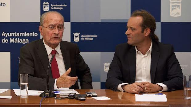 Francisco de la Torre, alcalde de Málaga, junto a Juan Cassá, portavoz de Ciudadanos
