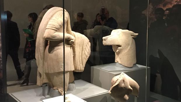 Conjunto escultórico expuesto en el Museo Íbero