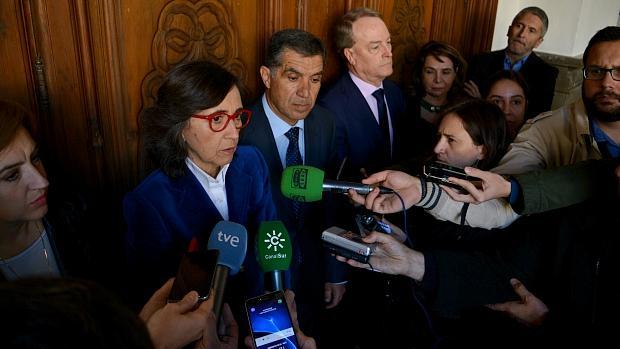 La consejera de Justicia de la Junta, Rosa Aguilar, en Granada.