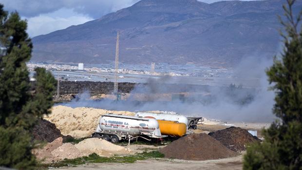 Incendio en la planta de Ejido Medio Ambiente