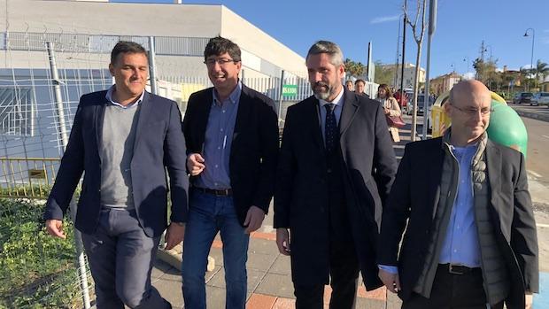Juan Marín en su visita a Mijas