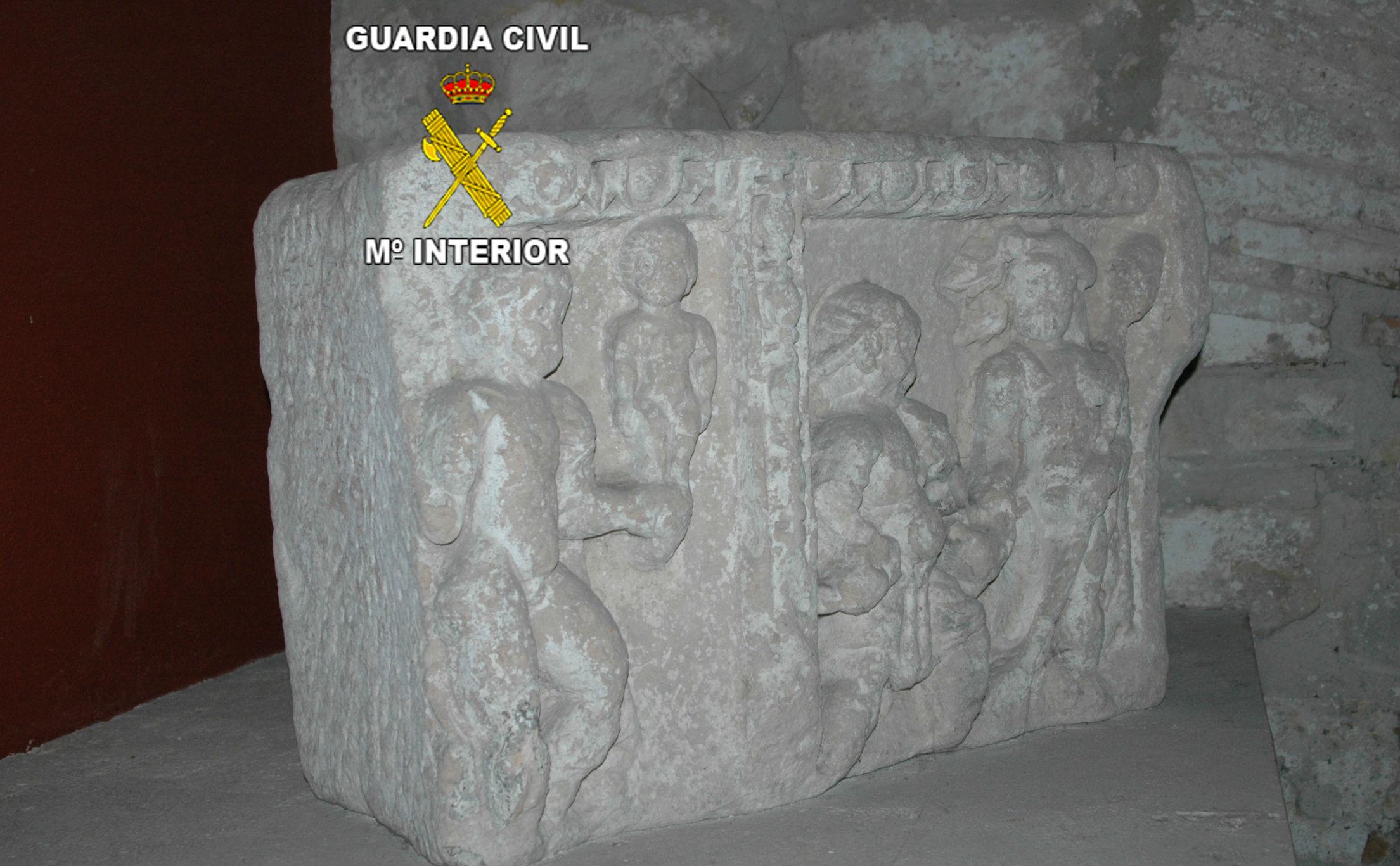 Pieza romana confiscada por la Guardia Civil de Jaén en el marco de la operación.
