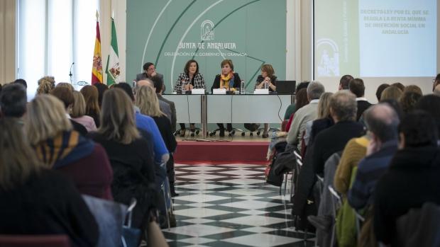 La consejera de Igualdad y Políticas Sociales de Andalucía, en la presentación.