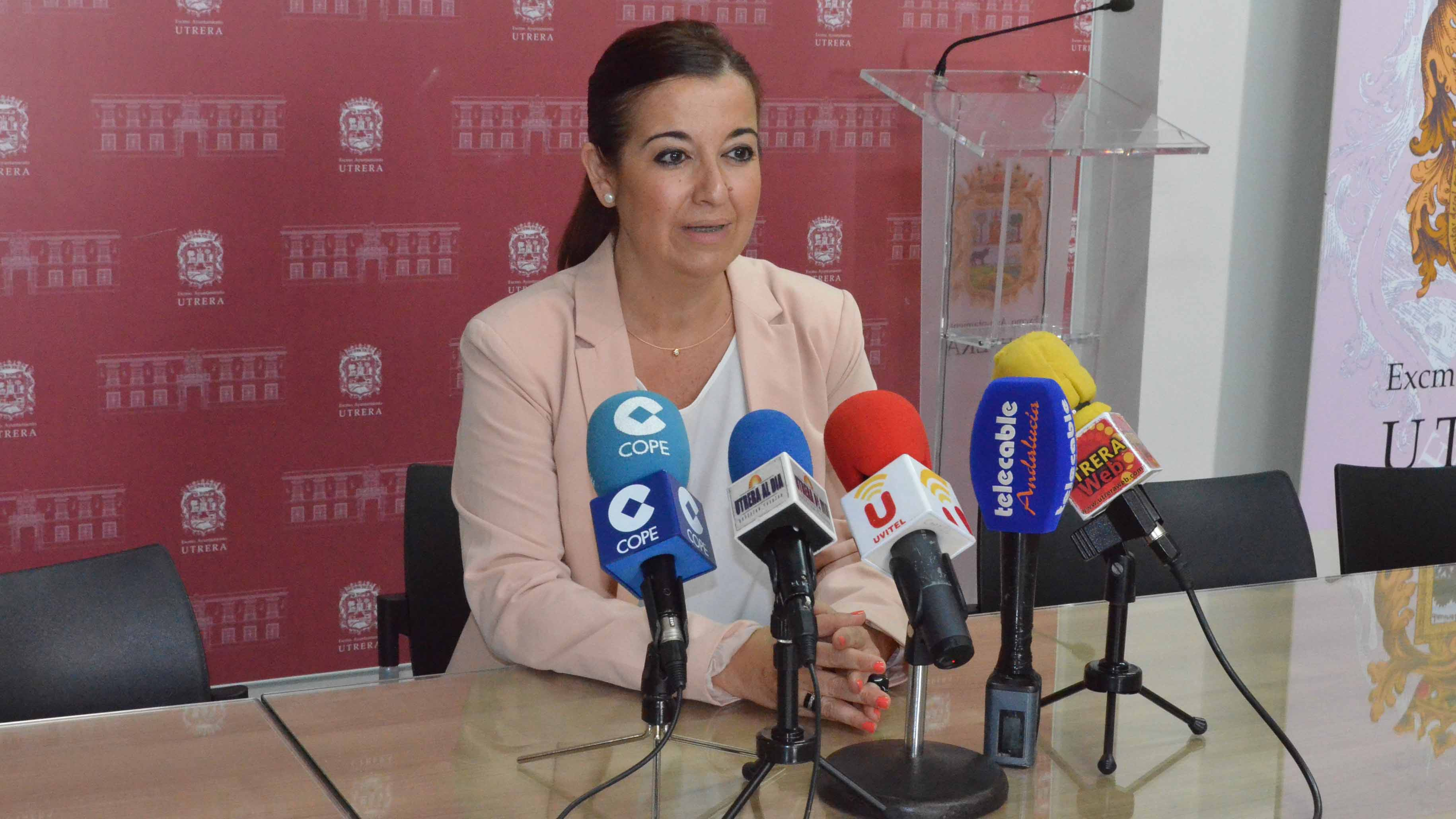 La concejal utrerana Carmen Cabra (PSOE)