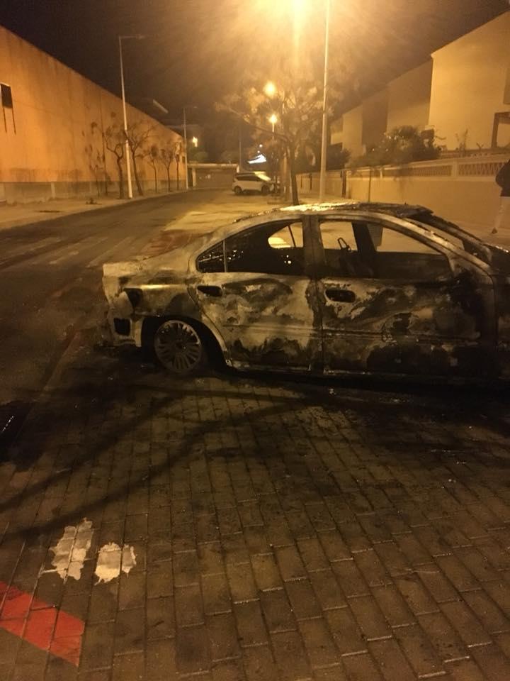 Estado en el que ha quedado el coche del concejal