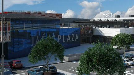 Maqueta del complejo comercial Jaén Plaza