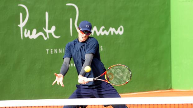El tenista británico Jamie Murray durante su entrenamiento