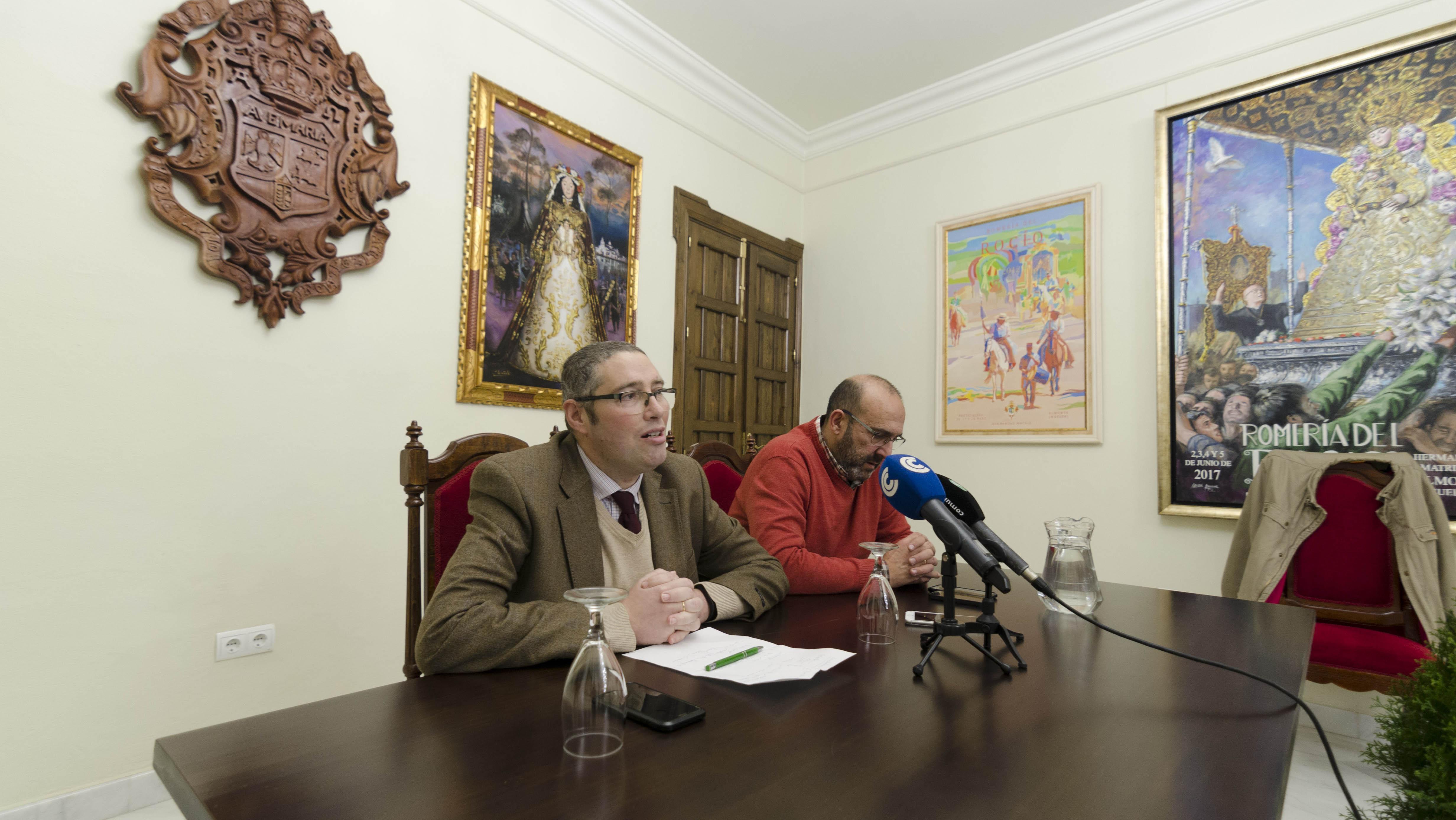 Juan Ignacio Reales, presidente de la Matriz y Antonio Mondaca, miembro de la Junta de Gobierno