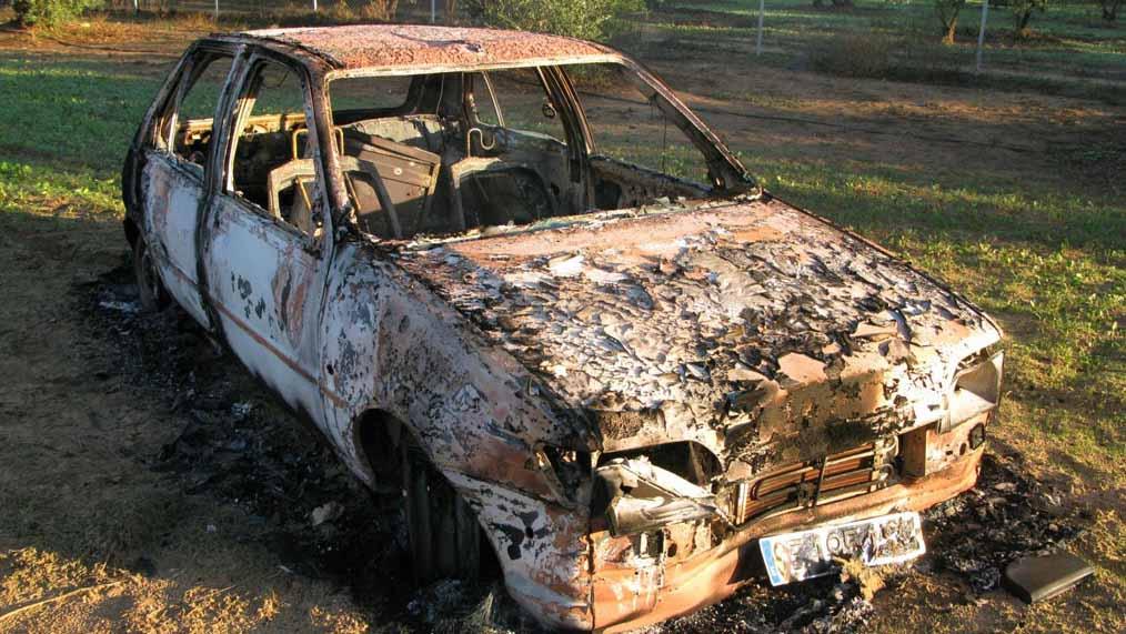 Uno de los vehículos que el detenido utilizó para perpetrar los robos