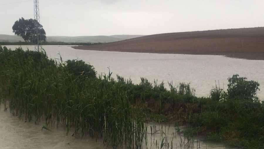 El pantano Torre del Águila está aliviando agua de manera natural