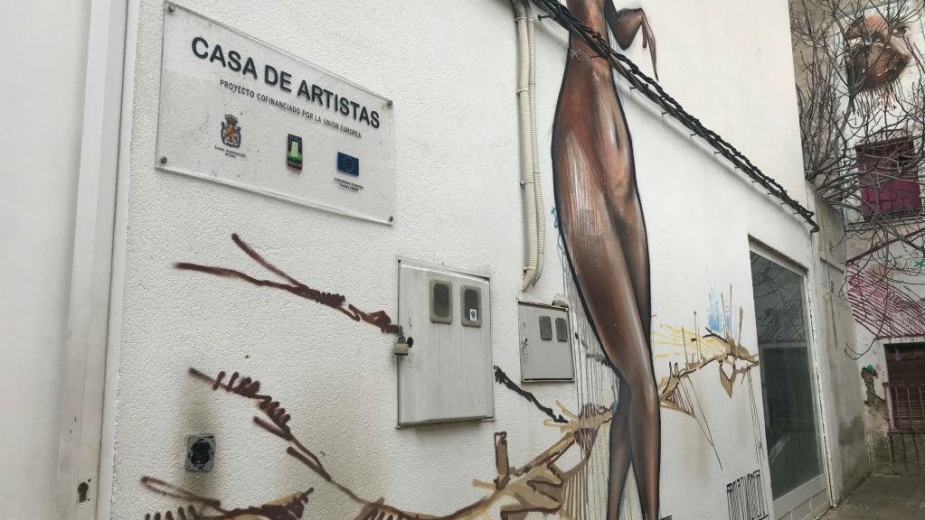 Fachada de la Casa de los Artistas, situada en el casco histórico de Jaén