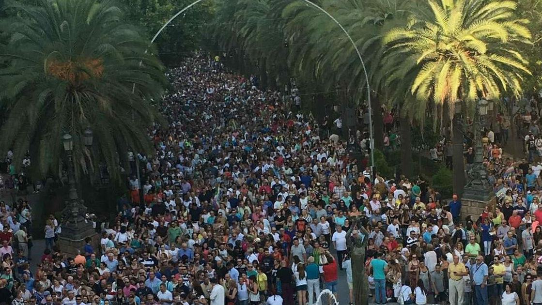 Decenas de miles de personas participaron en la manifestación del 14 de septiembre de 2017