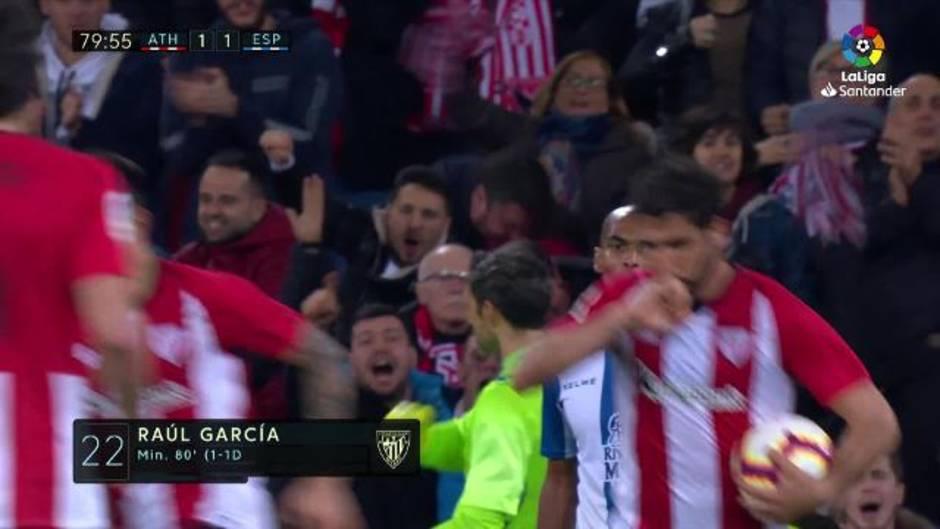 6896fd5c8b46d Gol de Raúl García (1-1) en el Athletic 1-1 Espanyol