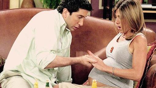 Rachel embarazada de amigos