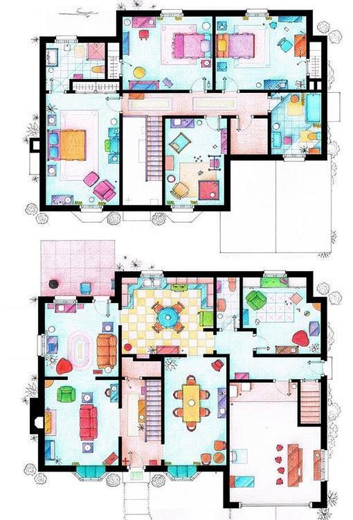 As son los planos de las casas de tus series favoritas - Casas de peliculas ...