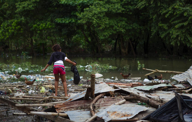 El barrio de La Puya, en Santo Domingo, tras el paso del huracán Matthew