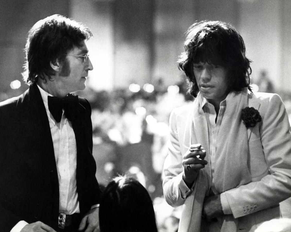 Lennon junto a Mick Jager