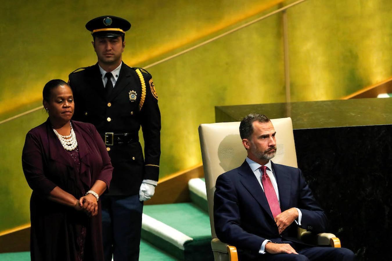 Don Felipe dedicó buena parte de su intervención ante la Asamblea General de la ONU a la inédita situación política española