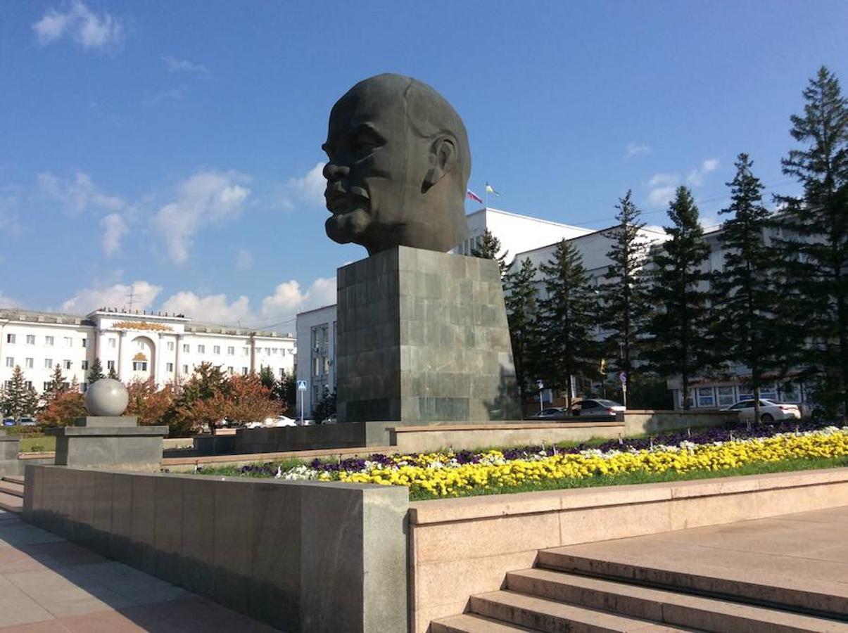 Busto de Lenin, en la ciudad de Udán-Ulé, en la República de Buriatia (Rusia)