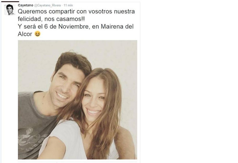 Eva González y Cayetano Rivera, que atravesaron una crisis de un año en el que no estuvieron juntos, han conseguido que el amor triunfe y se casaron en Mairena de Alcor