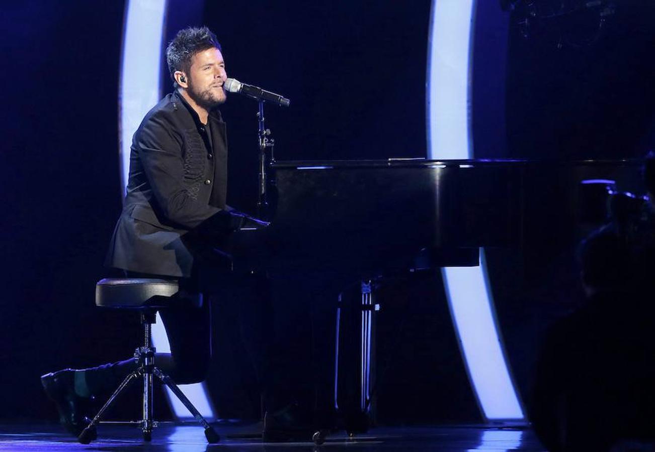 El cantante español Pablo López, en la actuación que daba comienzo a la gala