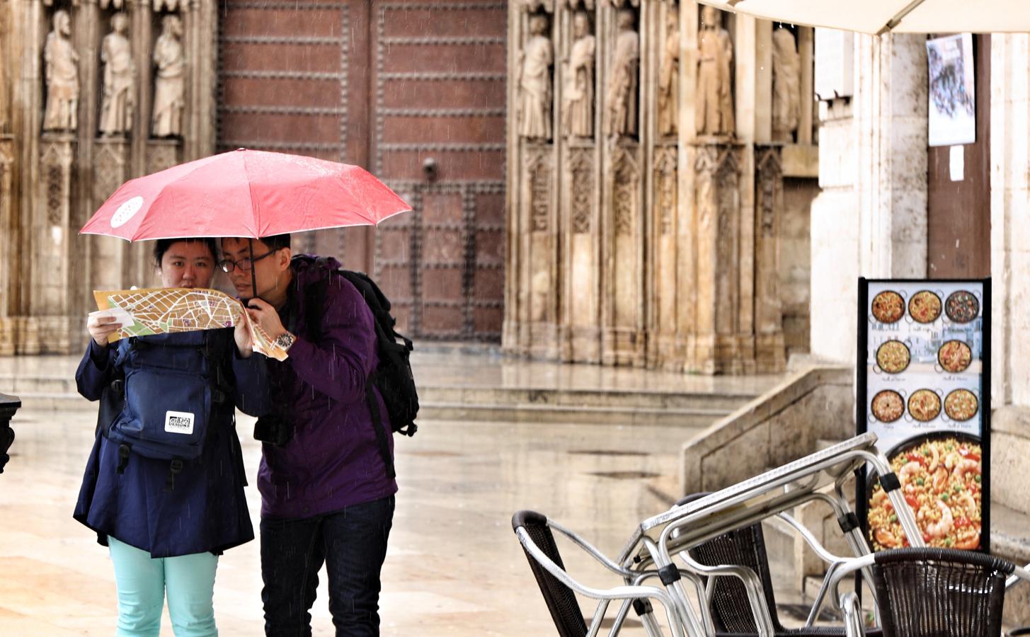 Las lluvias mantienen en alerta amarilla a Valencia
