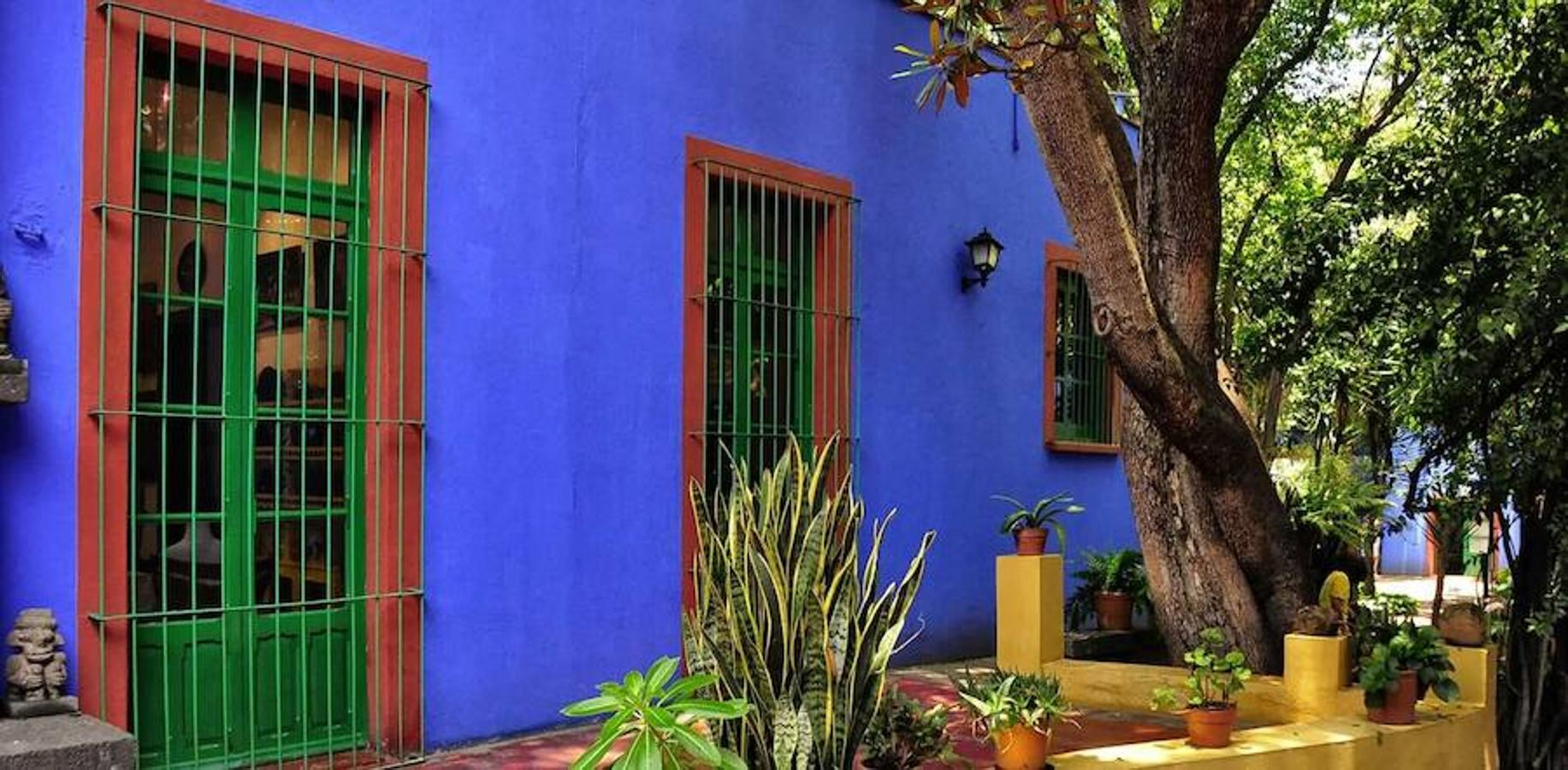 Fachada exterior de la Casa Azul