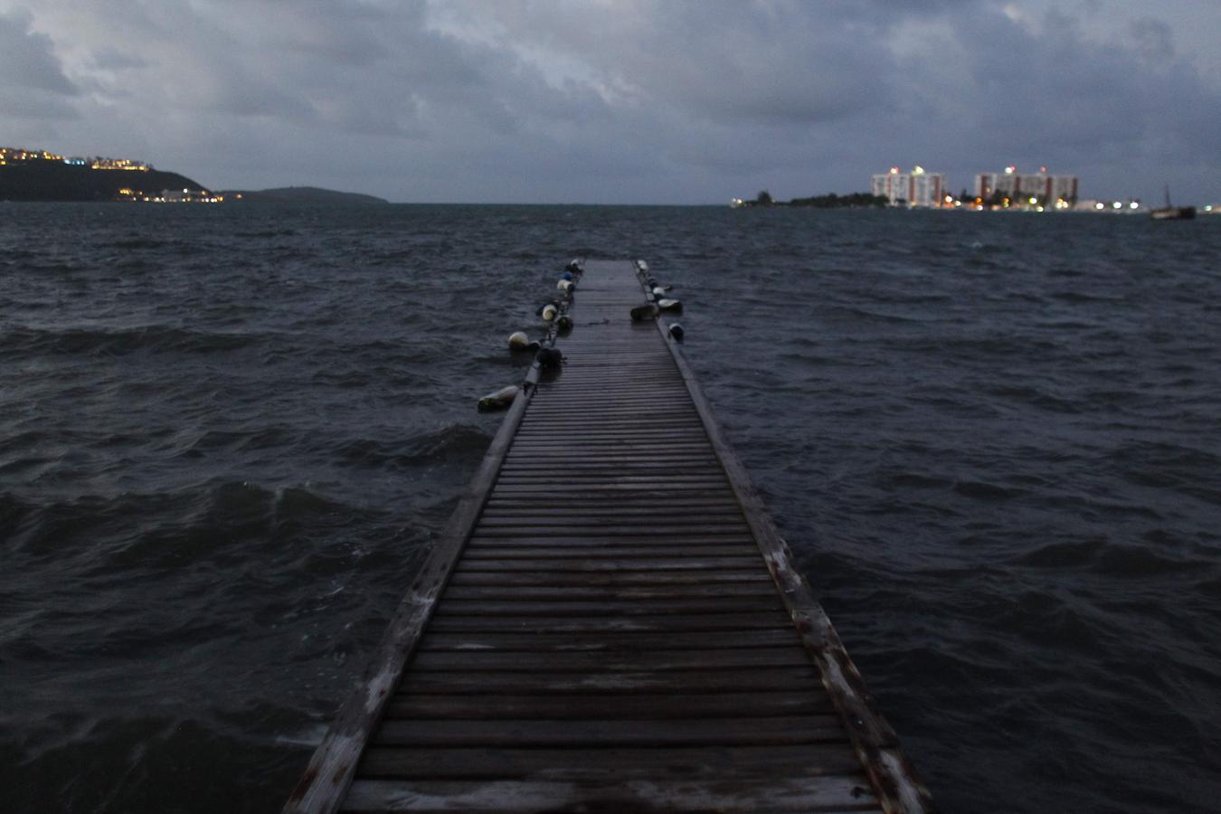 El huracán Irma momentos antes de llegar a Puerto Rico