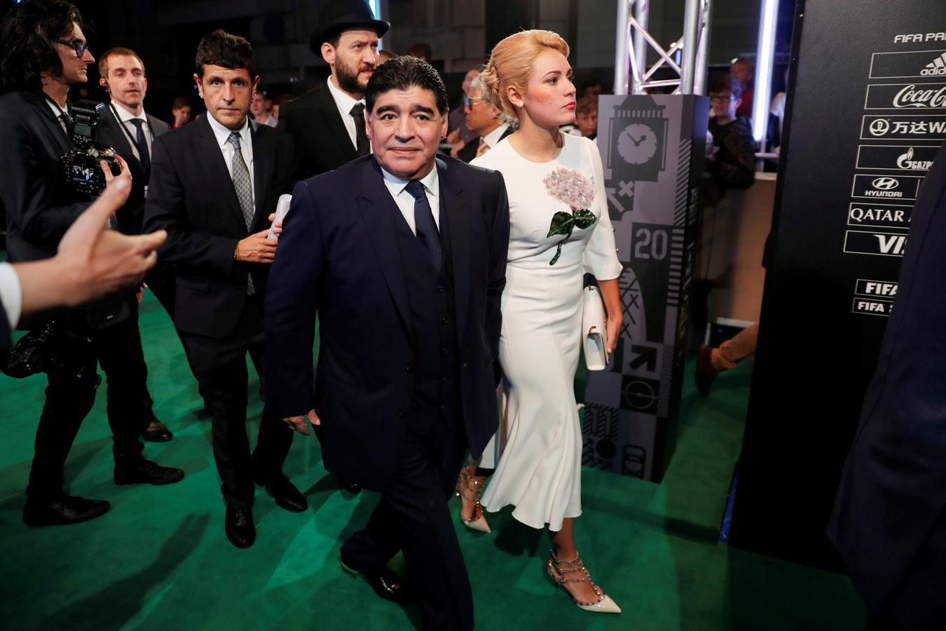 Diego Maradona y su mujer, Rocío Oliva