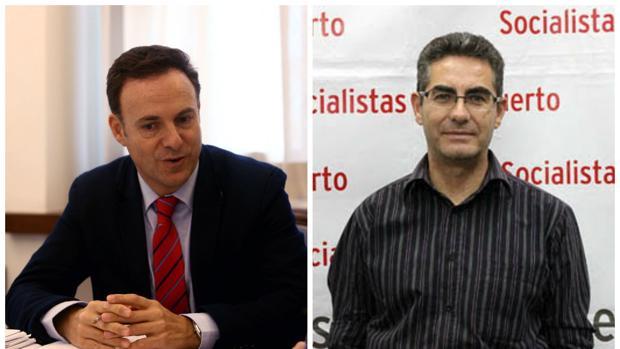 David de la Encina y Juan Manuel Sánchez buscan liderar el PSOE de El Puerto.