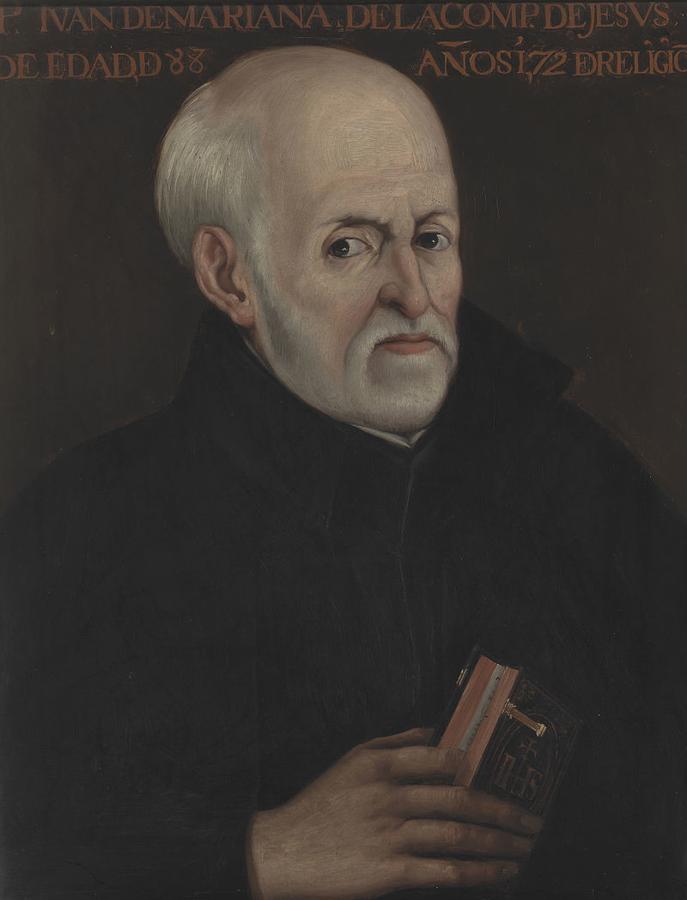 Juan de Mariana pintado por Matías Moreno, a partir del original existente, en 1878, en el Palacio Arzobispal