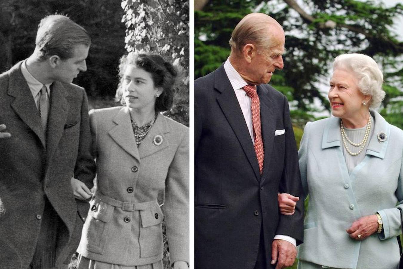La Reina Isabel II (91 años) y el Príncipe Felipe de Edimburgo (96) celebran hoy sus bodas de titanio, 70 años de vida en común que empezaron el 20 de noviembre de 1947, cuando se dieron el «sí, quiero» en la Abadía de Westminster