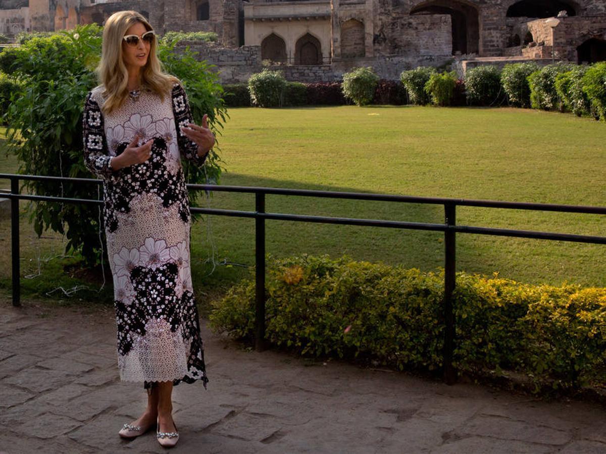La hija del presidente estadounidense lució unas bailarinas de Zara durante el viaje a India para participar en un foro de desarrollo económico y social