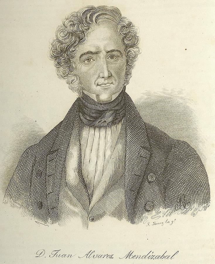 El ministro de Hacienda Álvarez Mendizábal (1790-1853) en un grabado de José Gomez. Biblioteca Nacional de España