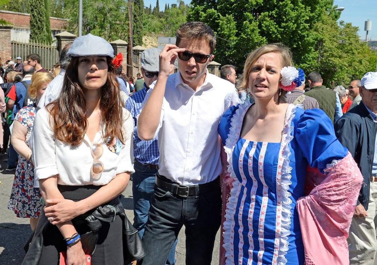 La diputada regional de Podemos Clara Serra junto a Íñigo Errejón y Tania Sánchez