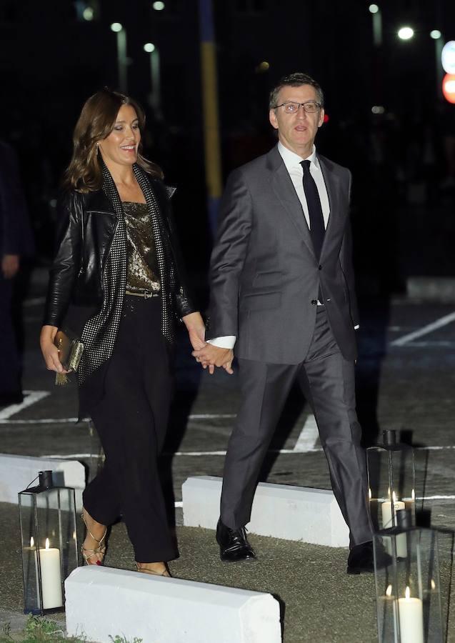 El presidente de la Xunta, Alberto Núñez Feijóo y Eva Cárdenas