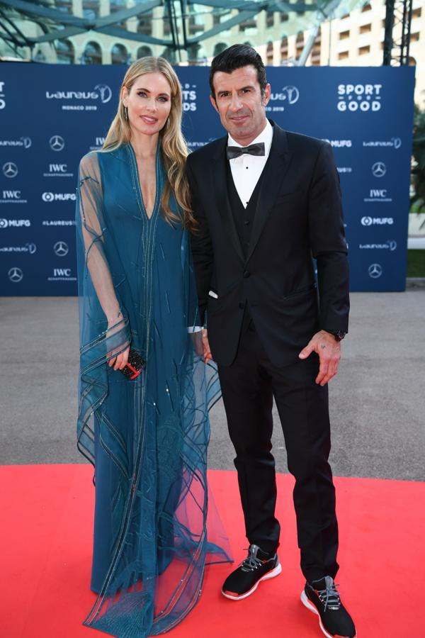 Luis Figo y su mujer, Helen Svedin