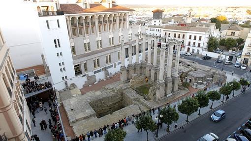 Vista aérea del Templo Romano