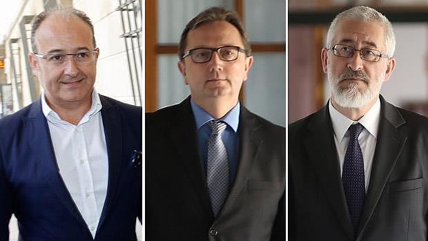Los exconserjero Martín Soler, Manuel Recio y Antonio Ávila