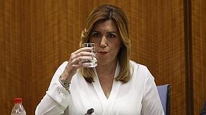 Susana Díaz estalla en la comisión de los cursos: «Me he casado con un tieso, pues sí»