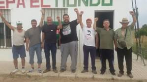 El congresista por Podemos Diego Cañamero encabeza otra ocupación de Somonte