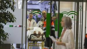 Traslado de pacientes al nuevo hospital de Granada el pasado fin de semana