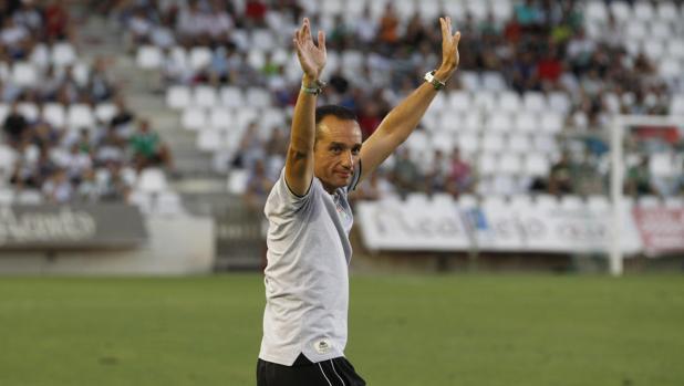 El entrenador del Córdoba CF, José Luis Oltra