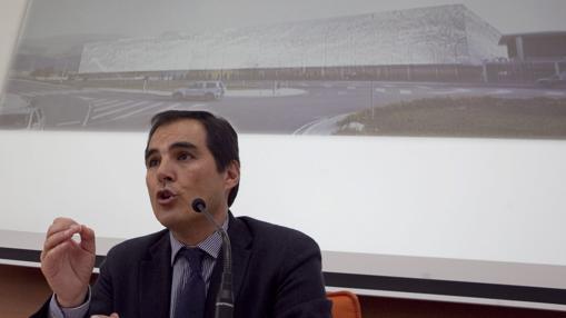 José Antonio Nieto, el 3 de marzo de 2012 en la presentación del Centro de Ferias