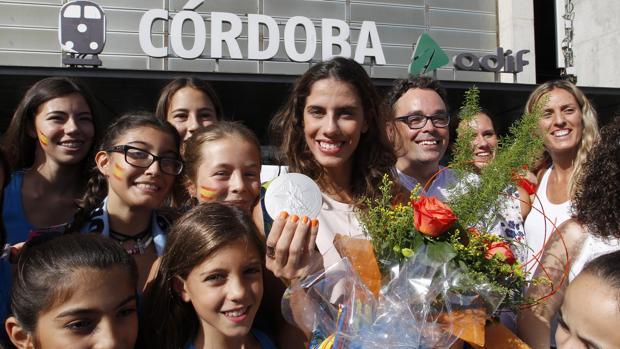 Lourdes Mohedano, a su llegada a Córdoba