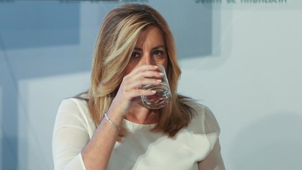 La presidenta de la Junta de Andalucía, Susana Díaz, en una imagen del pasado viernes en San Telmo