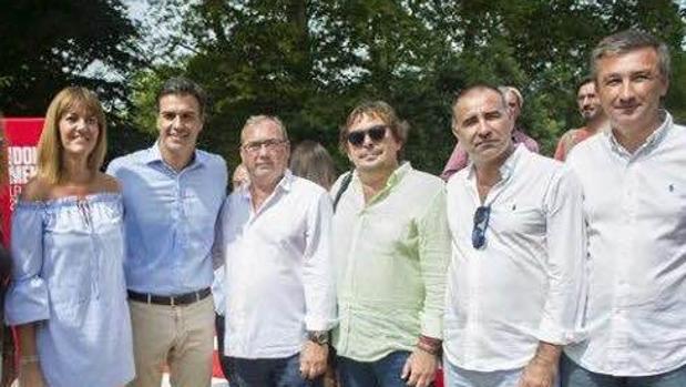 Idoia Mendía, Pedro Sánchez, Fernando Zamora, Blas Ballesteros, Rafael Quirós y Antonio Valverde