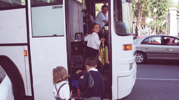 La parada de Colón ya se utilizó en su día para el transporte escolar
